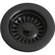 Elkay 4.5'' Grid Kitchen Sink Drain; Black