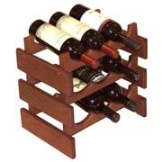 Wooden Mallet Dakota 9 Bottle Wine Rack; Mahogany