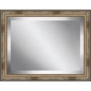 Ashton Wall D cor LLC Rectangle Distressed Antique Beaded Framed Beveled Plate Glass Mirror