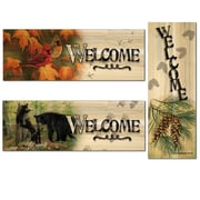 WGI WoodGraphixs, Inc Welcome 3 Piece Graphic Art Plaque Set