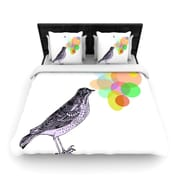KESS InHouse Candy Birds by Sreetama Ray Woven Duvet Cover; Twin