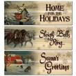 WGI WoodGraphixs, Inc Holiday 3 Piece Graphic Art Plaque Set