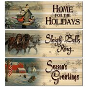 WGI WoodGraphixs, Inc Holiday 3 Piece Graphic Art Plaque Set