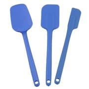 Mastrad 3 Piece Silicone Spatula Set; Blue