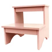 Decor Therapy 2-Step Manufactured Wood Step Stool; Soft Pink
