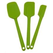 Mastrad 3 Piece Silicone Spatula Set; Green
