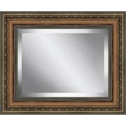 Ashton Wall D cor LLC Rectangle  Antique Framed Beveled Plate Glass Mirror