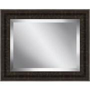 Ashton Wall D cor LLC Undertone Framed Beveled Plate Glass Mirror; Small