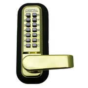 Lockey USA Mechanical Keyless Lock; Bright Brass