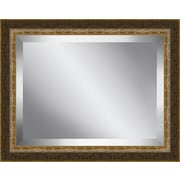 Ashton Wall D cor LLC Crackled Brushed Framed Beveled Plate Glass Mirror
