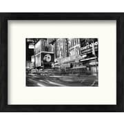 PTM Images New York City Streets I Framed Photographic Print in Black and White