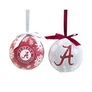 Team Sports America NCAA LED Boxed Ornament Set; Alabama