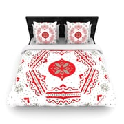 KESS InHouse Snowjoy White by Miranda Mol Woven Duvet Cover; King/California King