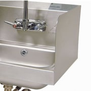 Advance Tabco Side Splash for Bowl with Splash Mounted Faucet