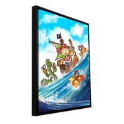 ArtWall 'Kid Pirate' by Luis Peres Framed Painting Print on Wrapped Canvas; 32'' H x 24'' W x 2'' D