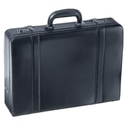 Mancini Business Leather Attach  Case; Black