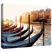 ArtWall ''Gondolas of Venice'' by Linda Parker Gallery Wrapped on Canvas; 12'' H x 18'' W
