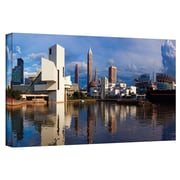 ArtWall 'Cleveland 20' by Cody York Photographic Print on Wrapped Canvas; 12'' H x 36'' W x 2'' D
