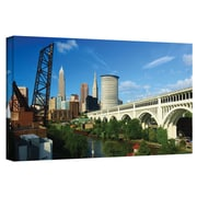 ArtWall 'Cleveland 11' by Cody York Photographic Print on Wrapped Canvas; 12'' H x 36'' W x 2'' D