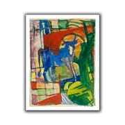 ArtWall 'Blue Cow' by Franz Marc Canvas Poster; 22'' H x 18'' W
