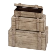 Woodland Imports Wood Box D cor (Set of 3)