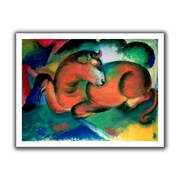 ArtWall 'The Red Bull' by Franz Marc Canvas Poster; 40'' H x 52'' W