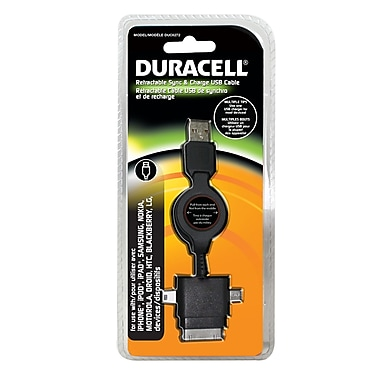 Duracell® Apple 30 PIN Plus Micro & Mini USB Charging Cable