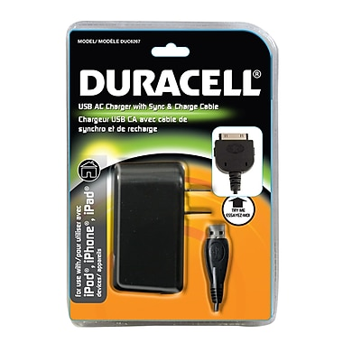Duracell® - Chargeur CA Apple 30 PIN pour iPod/iPhone