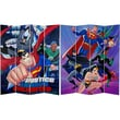 Oriental Furniture 71'' x 63'' Tall Double Sided Justice League Unlimited 4 Panel Room Divider