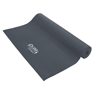 Pure Fitness Yoga Mat; Charcoal Gray