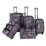 American Flyer Paisley 5 Piece Luggage Set II; Black