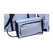 Piel Pastel Collection U-Zip Shoe Bag; Pastel Blue