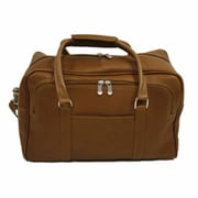 Piel Traveler 15.5'' Mini Leather Carry-On Duffel; Saddle
