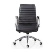 Whiteline Imports Oxford Low-Back Executive Office Chair; Black