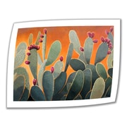 ArtWall 'Cactus Orange' by Rick Kersten Painting Print on Canvas Poster; 18'' H x 24'' W