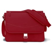 MacCase Premium Leather Small Shoulder Bag; Red