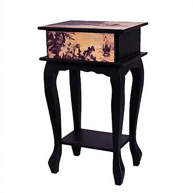 Oriental Furniture Ladies on Water Multi-Tiered Telephone Table