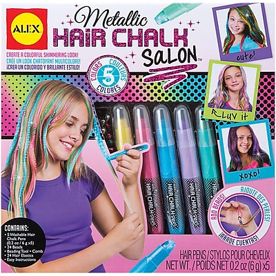 Alex Toys Metallic Hair Chalk Salon Kit 1546214