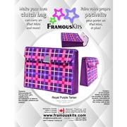 "FramousKits Royal Purple Tartan Clutch Bag Plastic Canvas Kit, 6.5"" x 8.6"" x 2"", 10 Count"