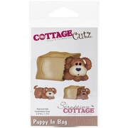 "CottageCutz® In The Woods Puppy In Bag Craft Die, 1.3"" x 2.4"""