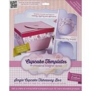 Crafter's Companion Single Cupcake Takeaway Box Template, 10 cm x 10 cm x 7 cm
