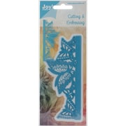 "Ecstasy Crafts Joy! Crafts Butterfly Edge Cut & Emboss Die, Blue, 5 1/2"" x 2 1/4"""