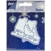 "Ecstasy Crafts Joy! Crafts Ice Skating Cut & Emboss Die, Light Blue, 2 7/8"" x 2 1/2"""