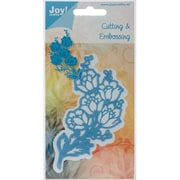 "Ecstasy Crafts Joy! Crafts Flower Corner Cut & Emboss Die, Blue, 4 3/4"" x 2 1/4"""