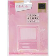 Ecstasy Crafts Marianne Design Abacus Collectables Die With Stamps, Pink