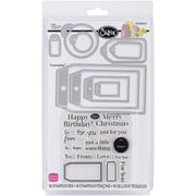 Sizzix® Tags Framelits Die Set With Stamps