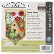 "Dimensions Summer Banner Counted Cross Stitch Kit, 5"" x 8"""