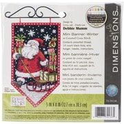 "Dimensions Winter Banner Counted Cross Stitch Kit, 5"" x 8"""