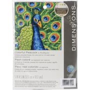 "Dimensions Colorful Peacock Mini Needlepoint Kit, 5"" x 5"""