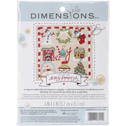"Dimensions Amy Powers Christmas Sampler Embroidery Kit, 6"" x 6"""
